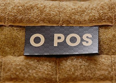 O POS Blood Type IR Patch Infrared US Army Navy Air Force SEAL USN USAF VELCRO®