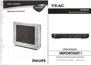 PHILIPS 68CM OLD STYLE TV + TEAC HDB848 HD DIGITAL RECEIVER Wilson Canning Area Preview