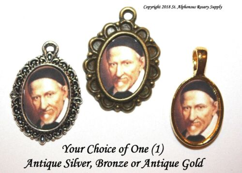 St. Vincent de Paul Mini-Medal/Add to Rosary/Antique Silver/Goldtone/Bronze