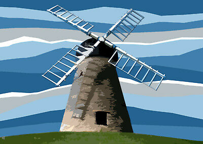 Whitburn Mill Windmill South Tyneside Limited Edition Print By Sarah Jane Holt
