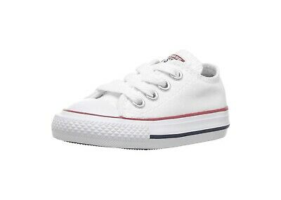 Converse All Star Low Chucks Infant Toddler Baby White Canvas Boys Girls - White Converse Toddler