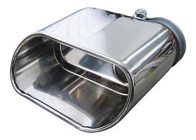 1x Premium Edelstahl Endrohr Oval Original Qualität Einlass 50mm viele Fahrzeuge