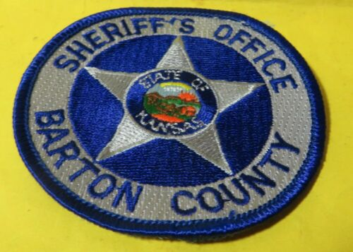 Out of service retired Barton County Sheriffs Patch State of Kansas