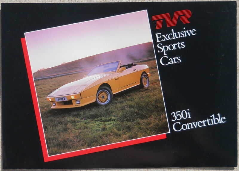 TVR 35Oi Convertible brochure