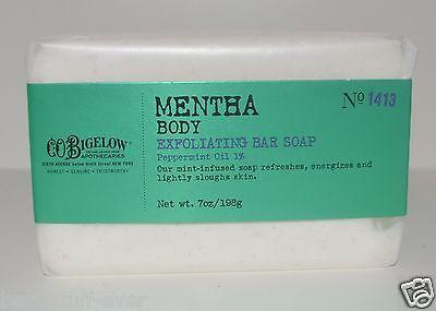 BATH BODY WORKS CO BIGELOW MENTHA EXFOLIATING BAR SOAP PEPPERMINT OIL MINT (Mentha Body Exfoliating Soap)