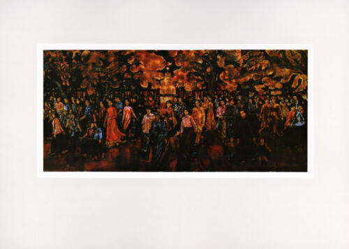 """Eve of Tet (Lunar New Year)"" VIETNAM WAR Lacquer Painting Vintage Art Print"
