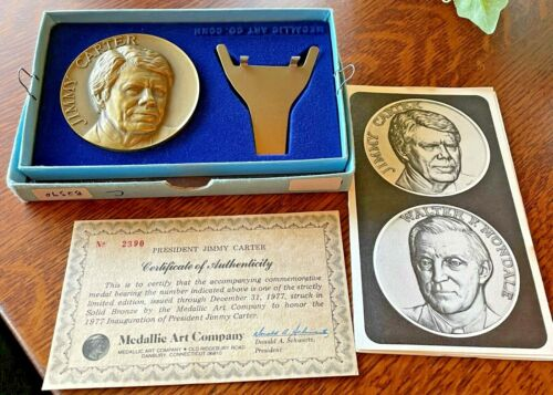 Bronze JIMMY CARTER  Inaugural MEDAL, 1977, Medallic Art Co.
