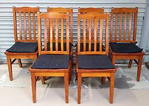 Set of 6 Timber Dining Chairs Highton Geelong City Preview