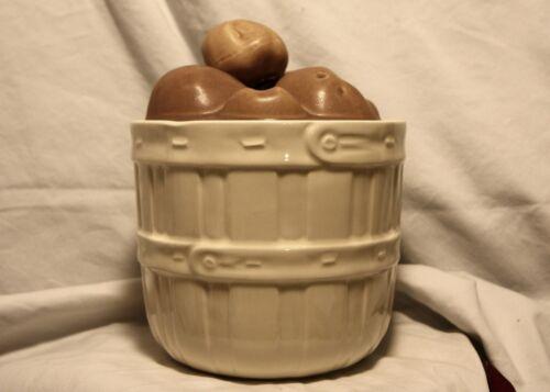 Vintage McCoy Ceramic Basket of Potatoes Cookie Jar #0274 Made in USA