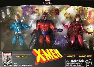 Marvel Legends Family Matters Magneto Quicksilver Scarlet Witch Exclusive Hasbro