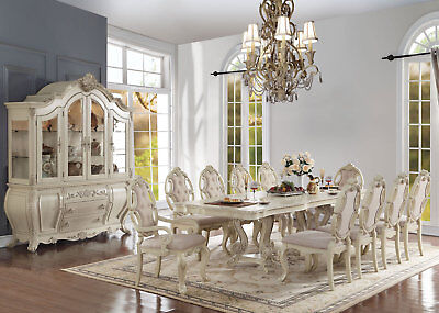 Old World Antique White 11 pieces Dining Room Set Rectangular Table Chairs IACZ ()