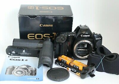 CANON EOS-1N HS 1NHS FILM BODY POWER DRIVE BOOSTER E1 CHECKED W.FILM JAPAN