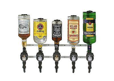 6er Profi-Wandhalter Flaschenhalter Bar Butler Alu