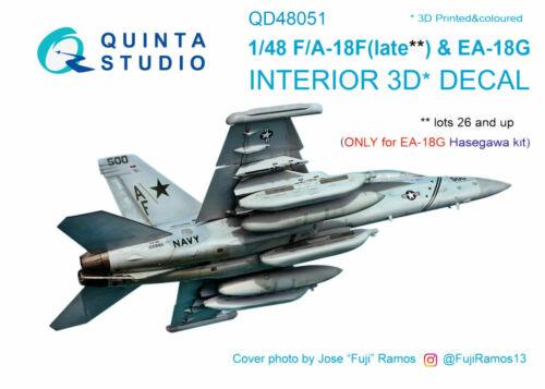 Quinta Studio QD48051 1/48 F/A-18F EA-18G Interior Set w/free shipping