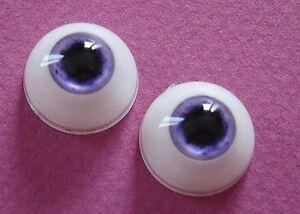 1-paire-yeux-18mm-FE3-violet-poupee-MODERNE-Vintage-BJD-Artist-doll-eyes