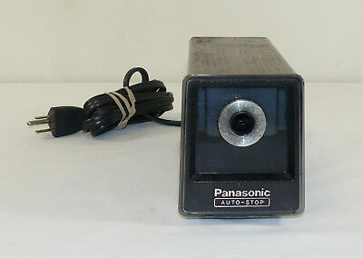 Vintage Panasonic Auto-stop Desktop Electric Pencil Sharpener Kp-77a Japan