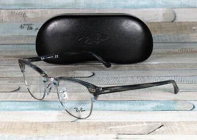 RAY BAN RX5154 5750 Clubmaster Blue Grey Strip Demo Lens 51 mm Unisex (Ray-ban Rx5154 Clubmaster Eyeglasses)