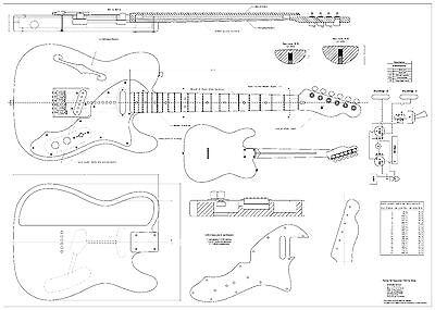 BP0279 1962 Fender Stratocaster Guitar Blueprint Plan