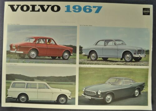 1967 Volvo Brochure Sheet 122S Sedan Wagon 1800S Coupe Nice Original 67