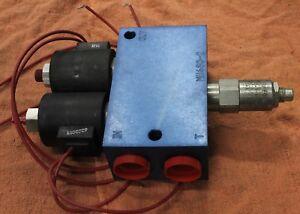 HydraForce 12 volt electric over hydraulic dual valve