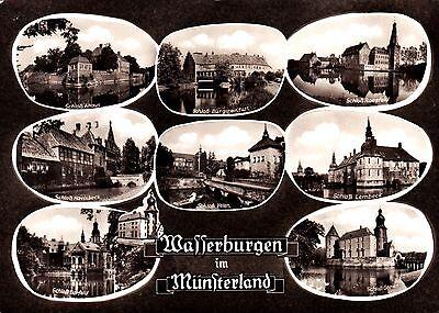 Wasserburgen im Münsterland , Ansichtskarte , ungelaufen