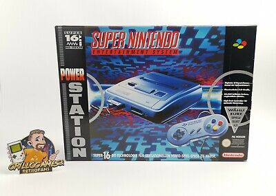 Super Nintendo Konsole Power Station Neu & Unbenutzt | Ovp | Snes...