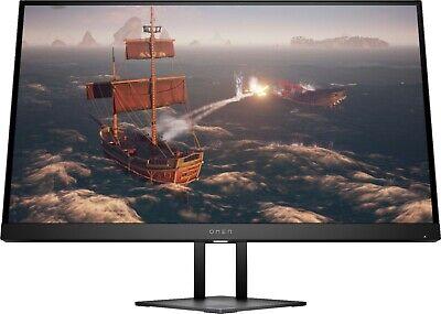 "NEW HP Omen 27"" IPS LED QHD Gaming Monitor HDMI Display Port- Shadow Black"