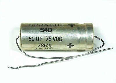 50VDC NOS 10MFD AXIAL ALUMINUM ELECTROLYTIC CAPACITOR MALLORY
