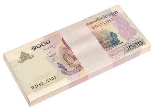 CAMBODIA 1000 RIELS 2007 P 58 UNC BUNDLE OF (100 PCS)