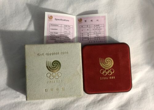 1988 Seoul Olympics 10000 Won South Korean Proof Coin, Diving - RARE, Case & COA