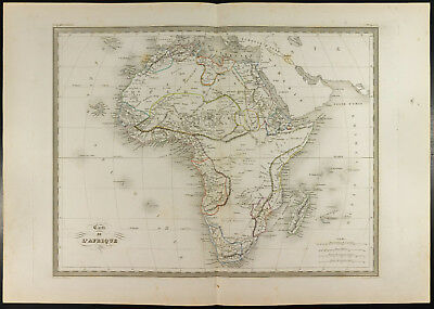 Africa: Geographical Map Old 1846, per Malte-Brun. Viscount,Sudan