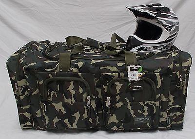 Xl Motorcycle Gear Bag  Moto Cross Atv Off Road Snowmobile Green Camo