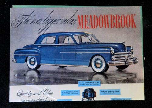 1950s OLDSMOBILE MEADOWBROOK AUTOMOBILE SALES BROCHURE ORIGINAL