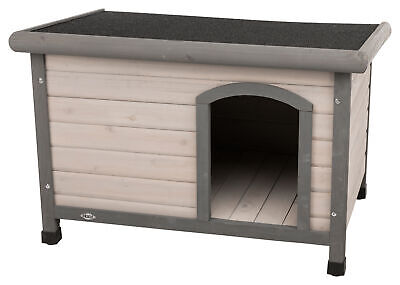 Trixie natura Hundehütte Classic mit Flachdach, grau, diverse Größen