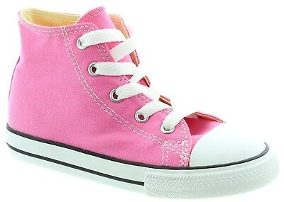 Pink Toddler Converse Shoes (Converse Star Baby Boy Girl Toddler Infant Hi Top Pink White Shoes All)