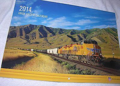 "2014 UNION PACIFIC MONTHLY RAILROAD CALENDAR  Color 14"" x 10"""