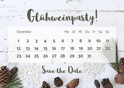 ten Glühweinparty, Einladung Weihnachtsfeier (Weihnachtsfeier Einladung)