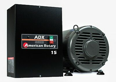 American Rotary Phase Converter  ADX15 15 HP 1 to 3 Phase CNC Extreme Duty  ()