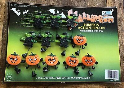 Vintage Halloween Store Advertising Display Board Witch Jack O Lantern Pins