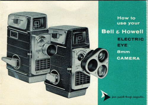 Vintage BELL & HOWELL Perpetua Electric Eye 8mm MOVIE CAMERA Instruction Manual