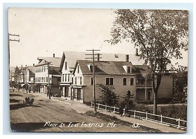 Postcard Main Street, Fort Fairfield, Maine ME *trimmed pc* RPPC H10 for sale  Biddeford