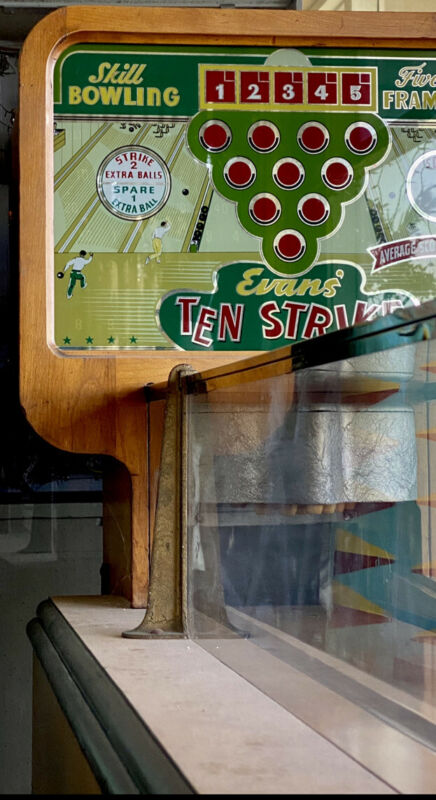 coin operated Evens Bowler All Original 1930s Best Example Known