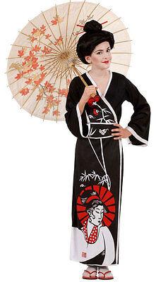 ostüm NEU - Mädchen Karneval Fasching Verkleidung Kostüm (Mädchen Geisha-kostüm)