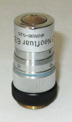 Zeiss Ph3 Neofluar 63x 63 0.90 Microscope Objective With Correction Collar