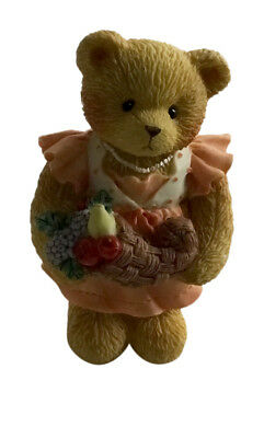"Cherished Teddies Barbara ""Giving Thanks For Our Family"" 3 Inch Thanksgiving"