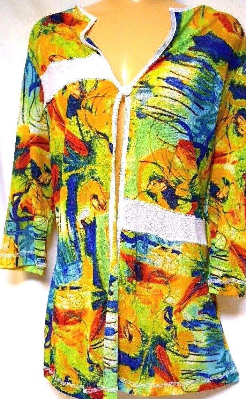 TS jacket TAKING SHAPE plus sz S / 16 Sketch Cardy light colourful NWT rrp$110