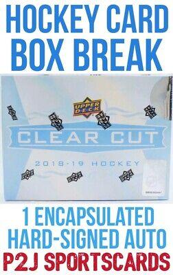 2018-19 Upper Deck Clear Cut Hockey Hobby Box BREAK 1 Random Team - Break 2194