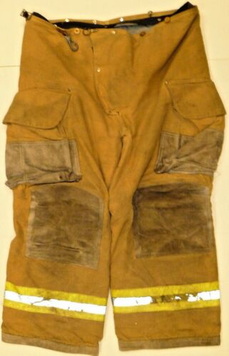 42x26 42S Janesville Firefighter Turnout Bunker pants w/ Yellow Reflective P827