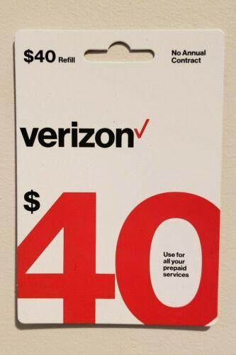 Verizon Wireless Prepaid Refill Card (Email Delivery Only)