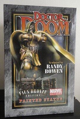 BOWEN DESIGNS DR. DOOM STATUE FAUX BRONZE  SIDESHOW FANTASTIC FOUR FIGURINE Dr Doom Statue
